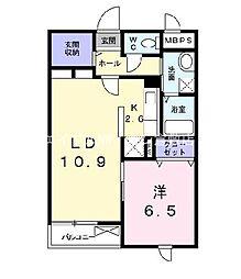 岡山県倉敷市中島丁目なしの賃貸マンションの間取り