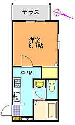 メゾンクレール船越[1階]の間取り