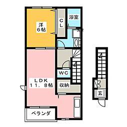 ストーリアI[2階]の間取り