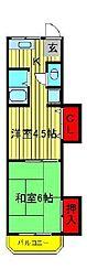 コーポ平山荘[205号室]の間取り