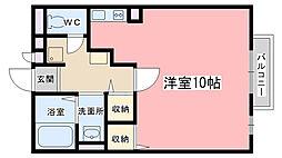 シャルト大宅[2階]の間取り