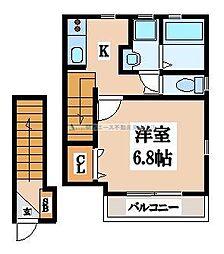 (仮称)長栄寺ハイツ[2階]の間取り