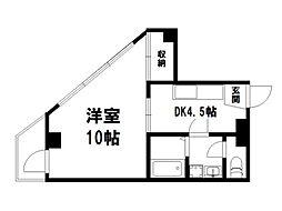 メゾンゼフィール[4階]の間取り