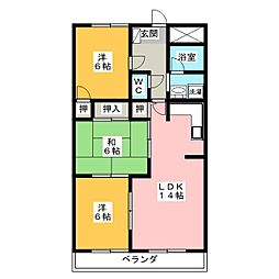 スクエア25[3階]の間取り