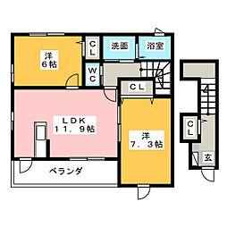 エコーズ II[2階]の間取り