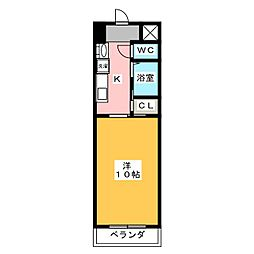 クレスト名駅西[5階]の間取り