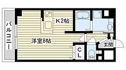 メイト鶴見[305号室]の間取り