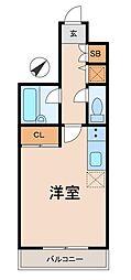 スカイコート品川大崎[3階]の間取り