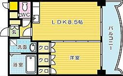 ロイヤルセンターBLD[305号室]の間取り