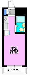 コーポグラフテック茅ヶ崎[A107号室]の間取り