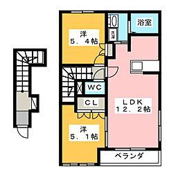マーチブラウンI[2階]の間取り