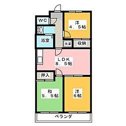 成和第3ビル[2階]の間取り