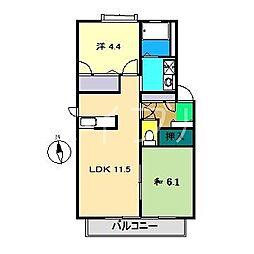 レジェンド A棟[1階]の間取り