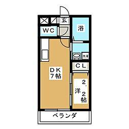 アルバ北仙台[2階]の間取り