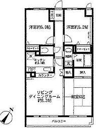 クレストコート東戸塚I(クレストコートヒガシトツカ1)[2階]の間取り