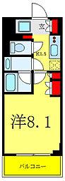 リビオメゾン御茶ノ水 5階1Kの間取り