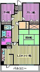 ガーデンシティ戸田[3階]の間取り
