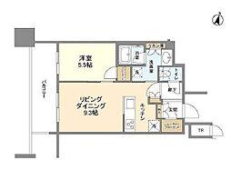 パークコート文京小石川ザタワー 25階1LDKの間取り