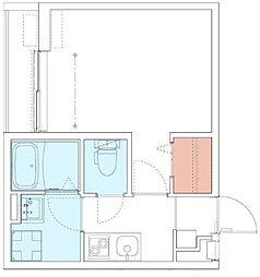 小田急小田原線 本厚木駅 徒歩5分の賃貸アパート 1階1Kの間取り