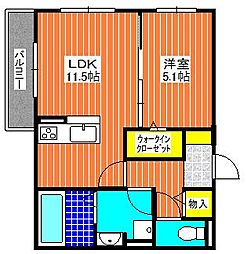 WISTERIA  PLACE  E・B・R[305号室]の間取り