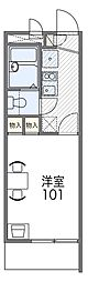 JR阪和線 三国ヶ丘駅 徒歩10分の賃貸マンション 2階1Kの間取り
