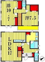 [一戸建] 千葉県松戸市胡録台 の賃貸【/】の間取り