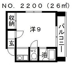 エス・コート[3階]の間取り