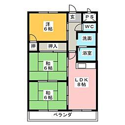 ビッグウィン杁先[2階]の間取り