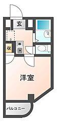 ハートフル藤井寺[5階]の間取り