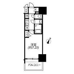 アドバンス名古屋モクシー 13階1Kの間取り
