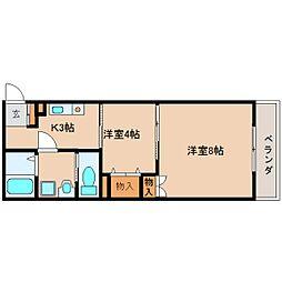 奈良県奈良市学園南3丁目の賃貸マンションの間取り