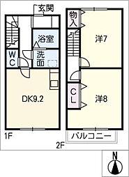 [タウンハウス] 愛知県春日井市勝川町西4丁目 の賃貸【/】の間取り