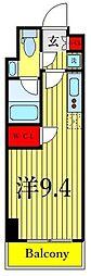 パークアクシス木場キャナル ウエスト 5階ワンルームの間取り