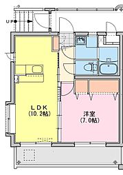 (仮称)都城牟田町マンション南棟 5階1LDKの間取り