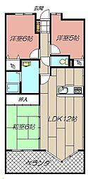 エクレール折尾II 103[103号室]の間取り