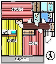 埼玉県さいたま市浦和区常盤7丁目の賃貸アパートの間取り