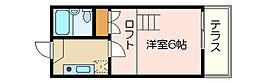 兵庫県姫路市西八代町の賃貸アパートの間取り