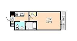 Osaka Metro千日前線 北巽駅 徒歩15分の賃貸マンション 2階1Kの間取り