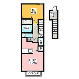 ハーモニーC[2階]の間取り
