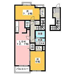 パルテ・カナ−レV[2階]の間取り