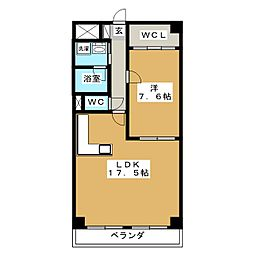 ROSE TOWER 元今泉[12階]の間取り