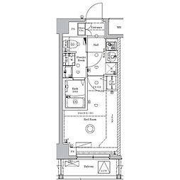 JR総武線 新小岩駅 徒歩12分の賃貸マンション 5階1Kの間取り