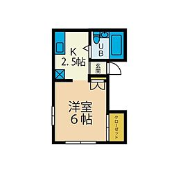 もとまちハウス[2階]の間取り