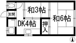 平野文化[1階]の間取り