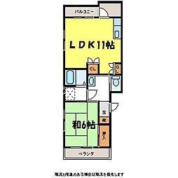 三沢マンション[2階]の間取り
