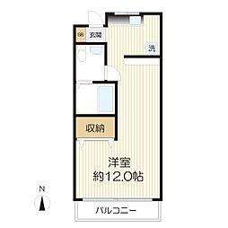 松澤コーポ[301号室]の間取り