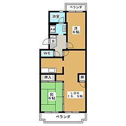 プレミール花岡[3階]の間取り