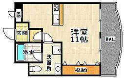 シャルト椥辻[2階]の間取り