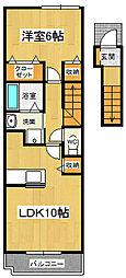 メゾンロアール3 B[2階]の間取り