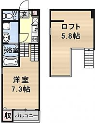 仮称)京都市山科区大宅関生町SKHコーポ[B102号室号室]の間取り